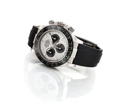 """勞力士,精細,18k白金自動上弦腕錶,配計時功能及陶瓷錶圈,""""宇宙計型廸通拿"""",型號116519LN,約2017年製"""