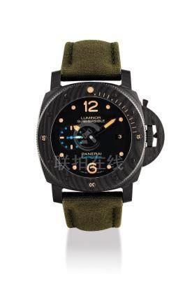 """沛納海,Carbotech枕形自動上弦腕錶,配日曆顯示,""""Luminor Submersible 1950"""",型號PAM00616,OP 7026,約2016年製"""