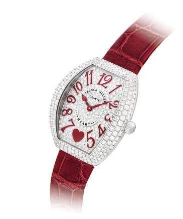 "Franck Muller,吸引,18k白金鑲鑽石酒桶形女裝腕錶,""Heart to Heart"",約2010年製"