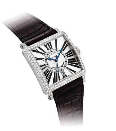 Franck Muller,18k白金鑲鑽石正方形自動上弦腕錶,''Master Square'',型號6000 H SC DT R D,約2010年製