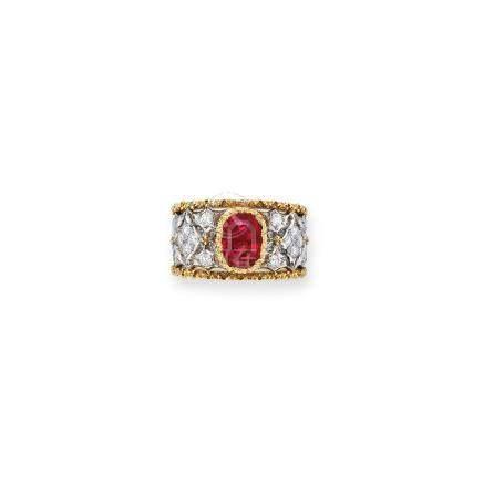 紅寶石及鑽石戒指Buccellati設計