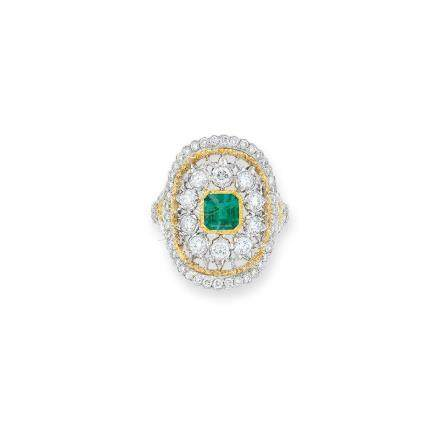 祖母綠及鑽石戒指Buccellati設計
