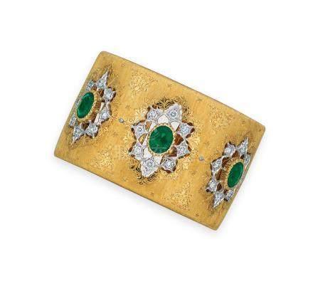 祖母綠及鑽石手鐲Buccellati設計
