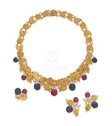 藍寶石及紅寶石套裝Buccellati設計