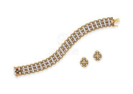 鑽石手鍊及耳環套裝Bulgari設計