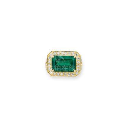 祖母綠及鑽石戒指