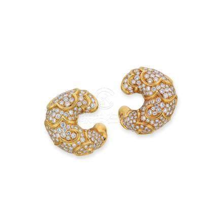 鑽石耳環Marina B設計