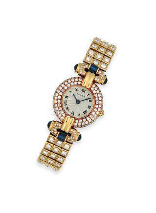 鑽石及藍寶石腕錶Cartier設計
