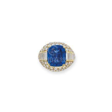 藍寶石及鑽石戒指Bulgari設計