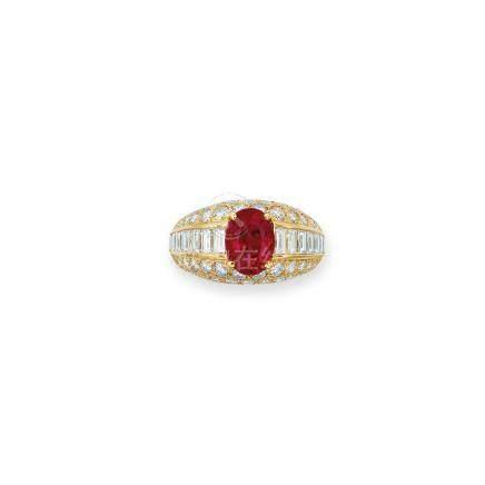 紅寶石及鑽石戒指Cartier設計