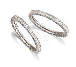 A Pair of Diamond Bangles (2)