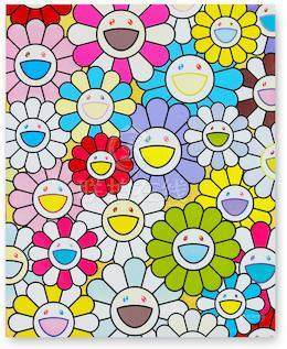 Takashi Murakami (Japanese, born 1962), 村上隆  A Little Flower Painting: Yellow, White, and Purple Flowers