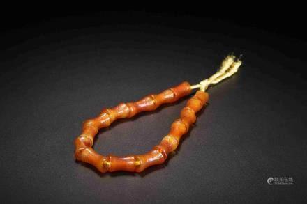 Qijia culture agate chain