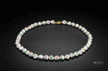 Republic of China color ceramic necklace