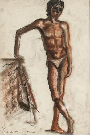 Michel Kikoine French Expressionist Pastel Paper