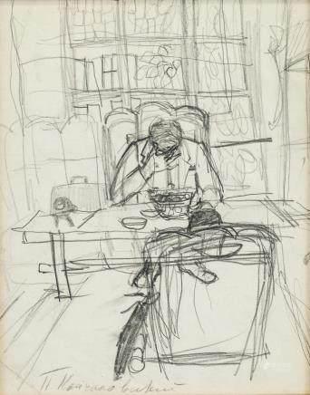 Pyotr Konchalovsky Russian Impressionist Graphite