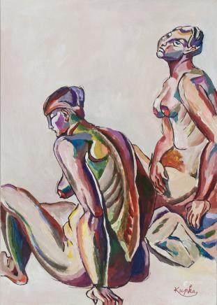 Frantisek Kupka Czech Expressionist Gouache/Paper