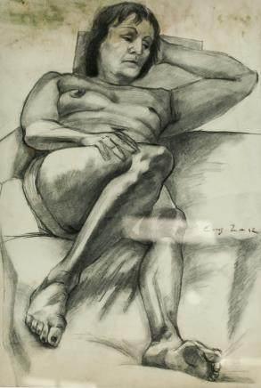 Eugene Zak Polish Impressionist Graphite