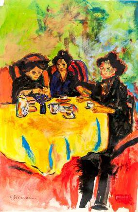 Ernst Kirchner German Expressionist Mixed Media