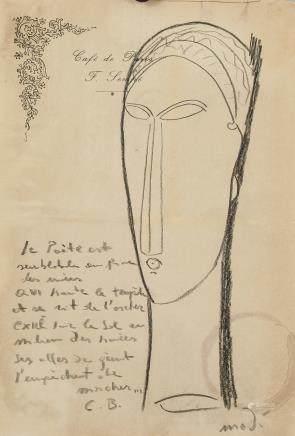 Amedeo Modigliani Italian Fauvist Graphite/Paper