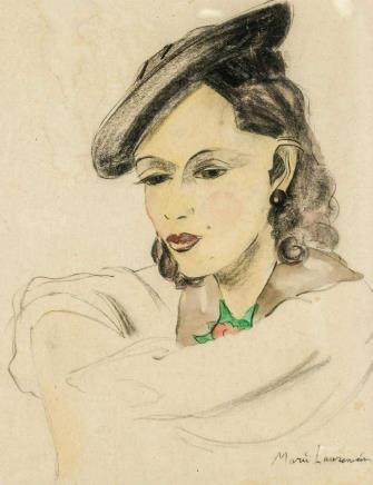Marie Laurencin French Expressionist Watercolor