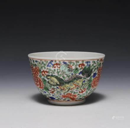 CHINESE FAMILLE VERTE BOWL,19TH. CENTURY