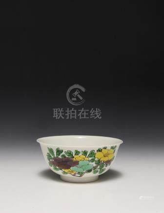 CHINESE IMPERIAL SANCAI PORCELAIN BOWL, KANGXI