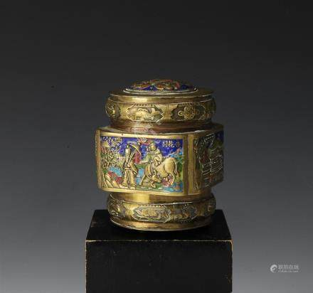 CHINESE BOX W/ ENAMEL, LATE REPUBLIC