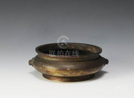 CHINESE BRONZE INCENSE BURNER, QING DYNASTY