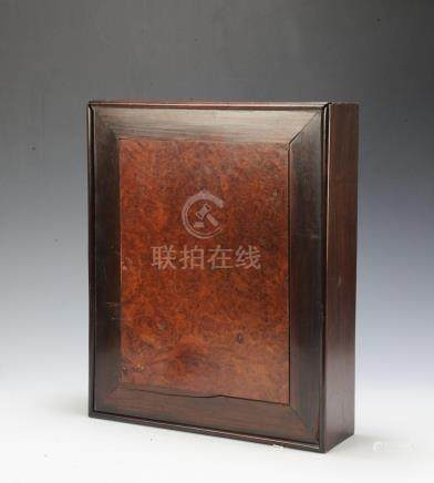 CHINESE HONGMU & YINGMU WOOD BOX, 19TH CENTURY