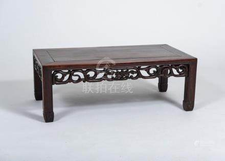 CHINESE HARDWOOD KANG TABLE, 19TH CENTURY