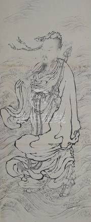 CHINESE PAINTING OF A TAOIST FIGURE