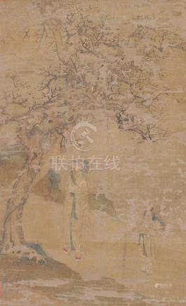 OLD CHINESE PAINTING OF SCHOLARS