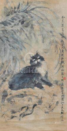 CHINESE PAINTING OF A CAT BY CHEN RUIGENG