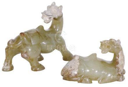 宋  Song Dynasty (960–1279)  黃玉駱駝一對