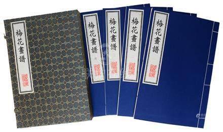 《梅花畫譜》一函四冊 2001年 北京古籍出版社