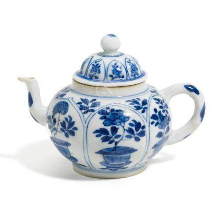 SMALL TEAPOT WITH PEONIES.