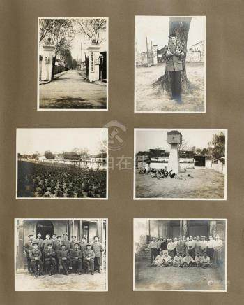 PHOTO ALBUM ABOUT THE NAVY AND THE LIFE IN THE GERMAN PROTECTORATE.