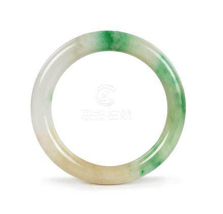 GREEN SPECKLE JADE BANGLE