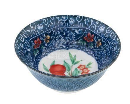 Polychrome porcelain bowl