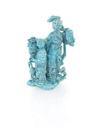 Small turquoise sculpture