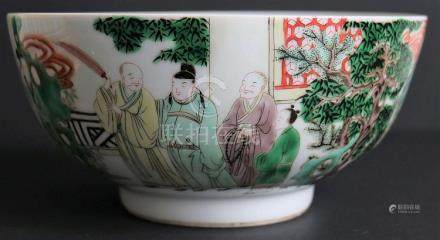 Chinese bowl famille verte