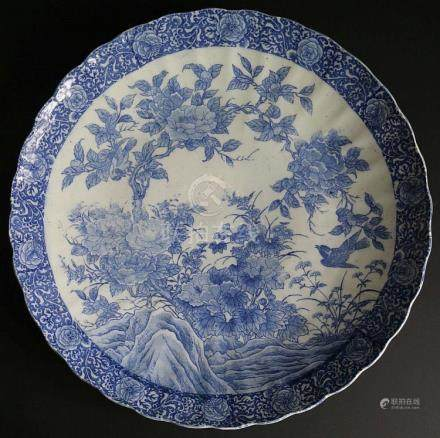 Chinese dish blue/white