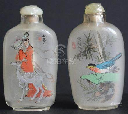 Chinese snuff bottles (2)