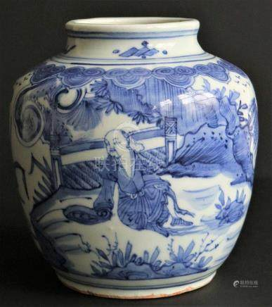Chinese jar blue/white