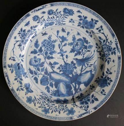 Chinese dish blue/white 18th century