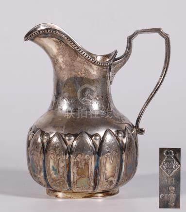 European silver milk jug &pod