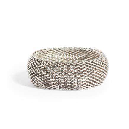 A woven 'Somerset' bracelet, Tiffany & Co composed of woven mesh links, stamped TIFFANY & CO 925