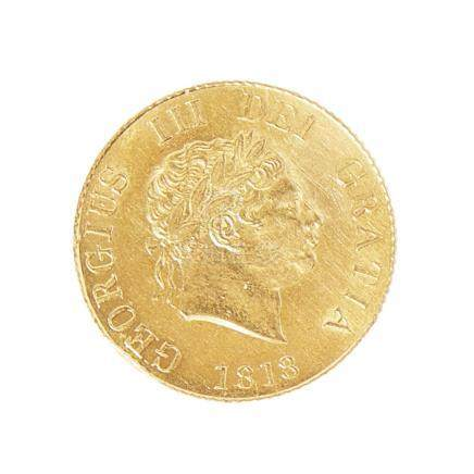 G.B. - A half sovereign 1818, EF/XF