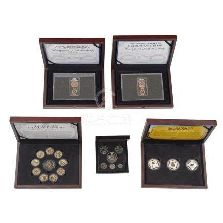 A group of modern proof coin sets to include; Australia, Princess Charlotte coin set (10);